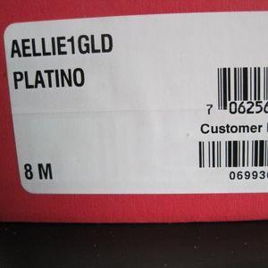 American Rag Gold Metallic Shimmer Flats.